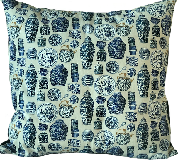 Printed 'Porcelain' cushion cover
