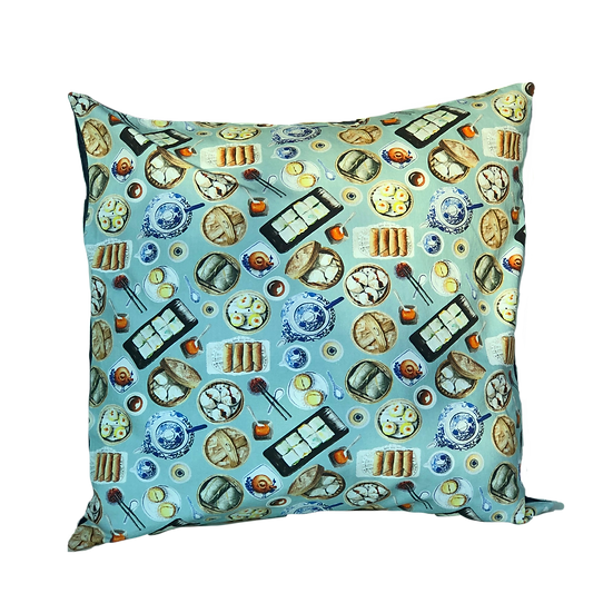 Printed 'Dim Sum' cushion cover