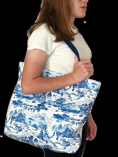 Printed 'Toile' tote bag