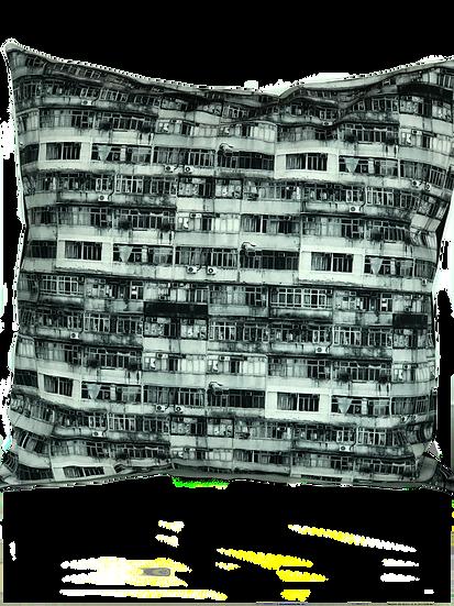 Printed 'City Mono' cushion cover