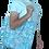 Thumbnail: Printed 'Light Blue Sakura' tote bag
