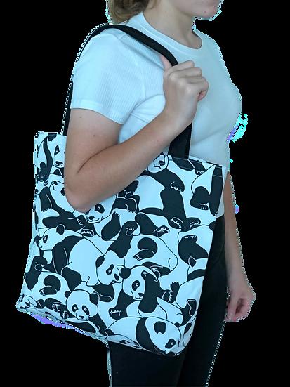 Printed 'Panda' tote bag