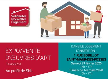 EXPO/VENTE D'OEUVRES D'ART TOMBOLA Au profit de SNL