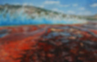 "Watercolor On Clayboard, 24x36"""