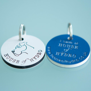 House of Hydro branded dog tags
