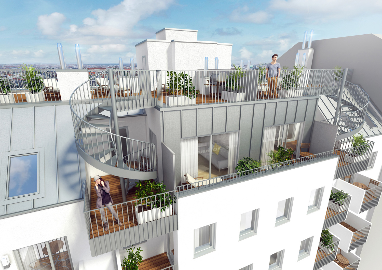 Visualization - rooftop terrace