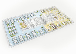 3D groundplan - office block