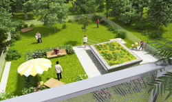 Visualization - garden area