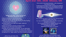 Awakening The Illuminated Heart, April 2-5th 2020, Zoom event, in EST, Toronto
