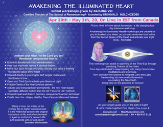 Awakening The Illuminated Heart, April 30th-May 3th 2020, on line EST from Toronto