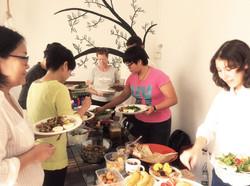 Lunch Break at Heart Ascension Workshop