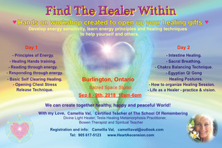 Find The Healer Within, Burlington, Canada,  Sep 8 - 9th, 2018