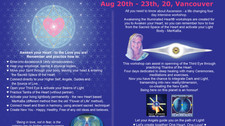Awakening The Illuminated Heart, Aug 20th - 23th 2020, Vancouver, BC