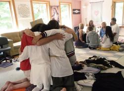 Sharing a Hug In Love Peace Harmony