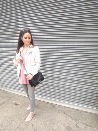 Faux leather jacket for a day on the town!