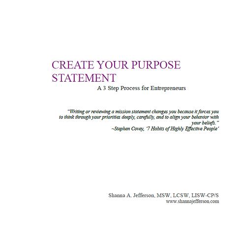 Create Your Purpose Statement