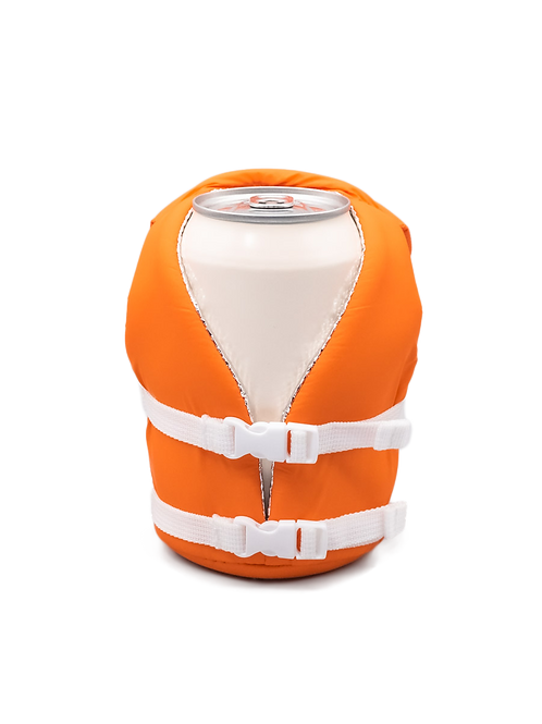 Puffin Coozies Life Vest (Vintage Orange)