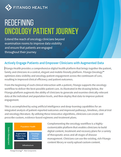 Fitango Redefining Oncology Patient Jour