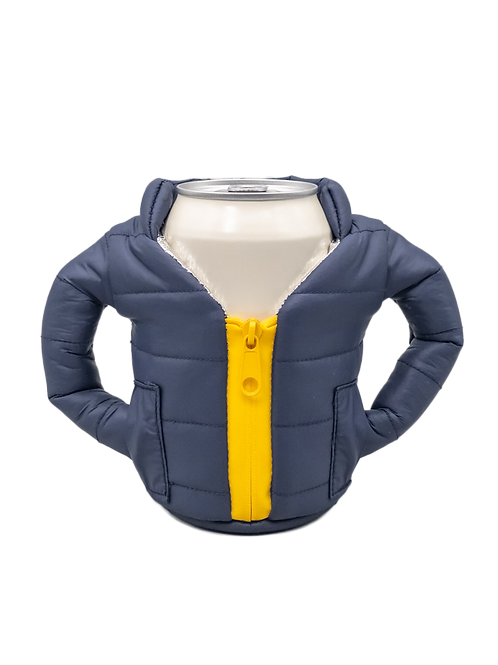Puffin Coozies Full Jacket (Blue/Yellow)