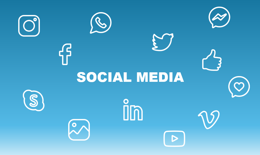 Image with social media icons