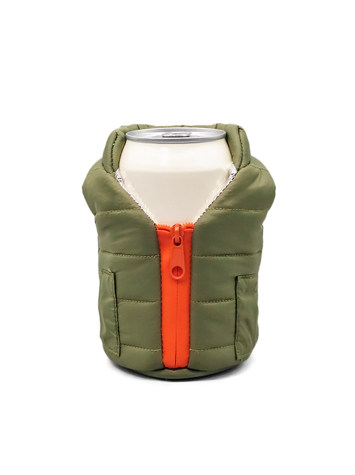 Puffin Coozies Jacket Vest (Green/Orange)