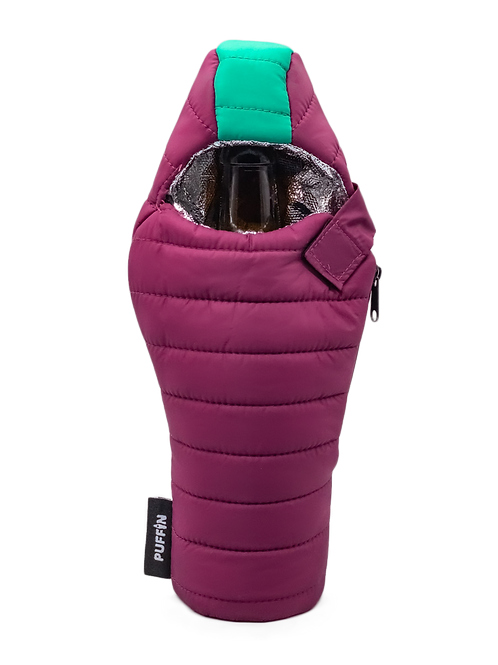 Puffin Coozies Beverage Bag (Plum/Teal)