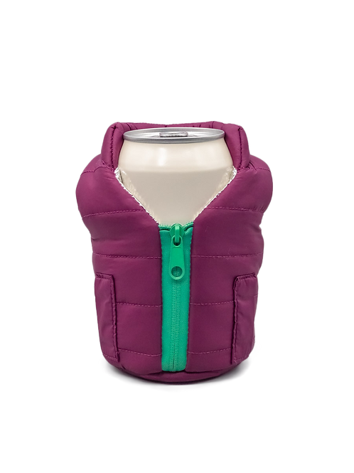 Puffin Coozies Jacket Vest (Plum/Teal)