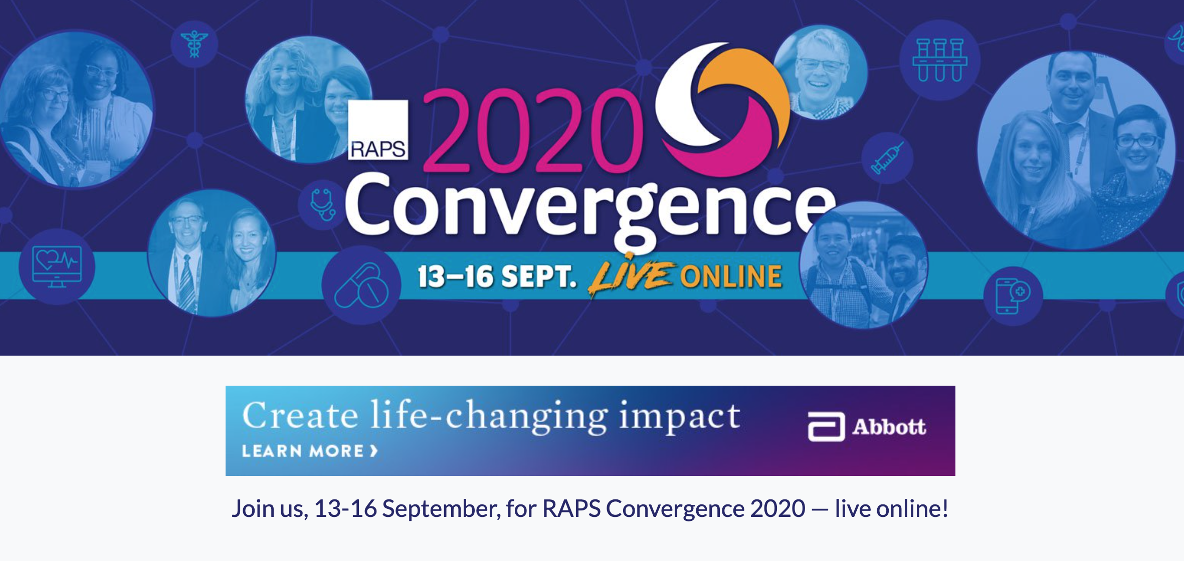 We had the chance to attend RAPS Convergence