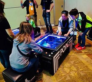 The Atari Pong® Coffee Table was on disp