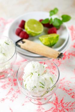 Limetková zmrzlina