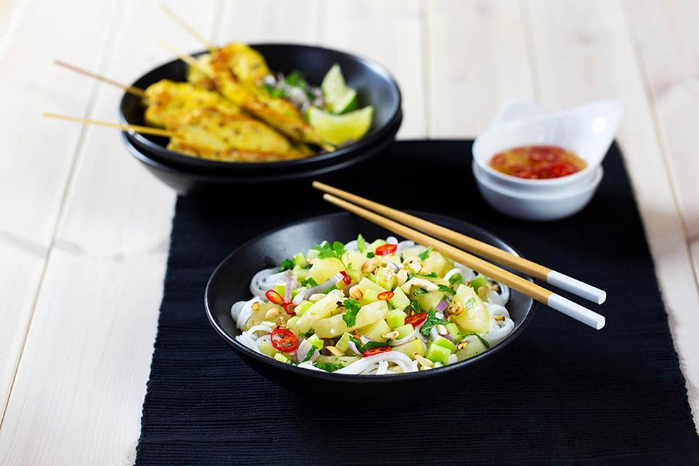 Rýžové nudle s ananasem