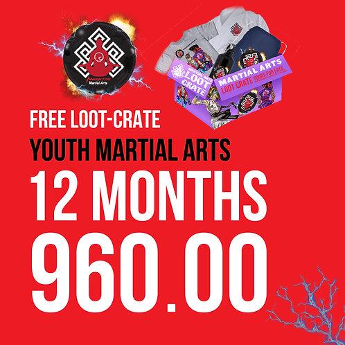 Youth Martial Arts 1yr Membership