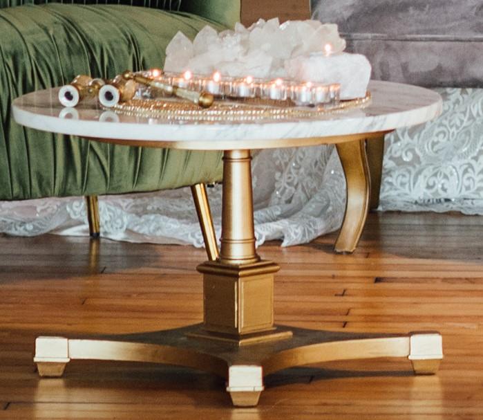 Marble Top Side Table Celestial Elegant