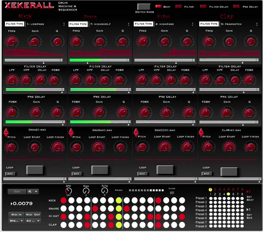 Drum Machine & Sequencer