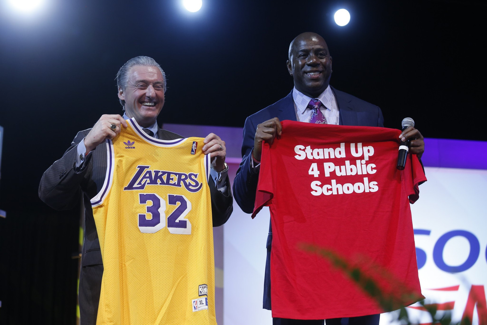David Pickler and Magic Johnson | Stand Up 4 Public Schools | American Public Education Foundation