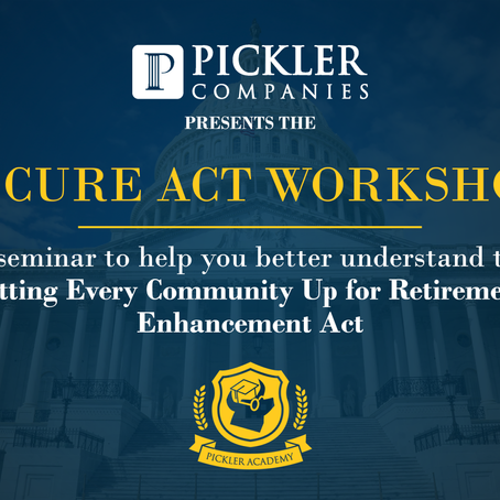 Join Our SECURE Act Workshop