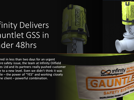 Gauntlet delivered in under 48 hours