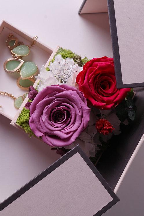 Love in the box ( purple ) jewelry box