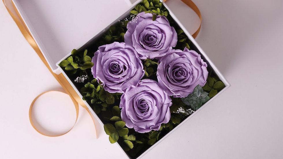 Purple Eternal Roses Gift Box