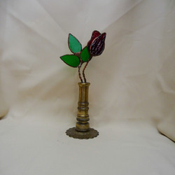 Red Stained Glass Rose