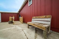 Outdoor bench!