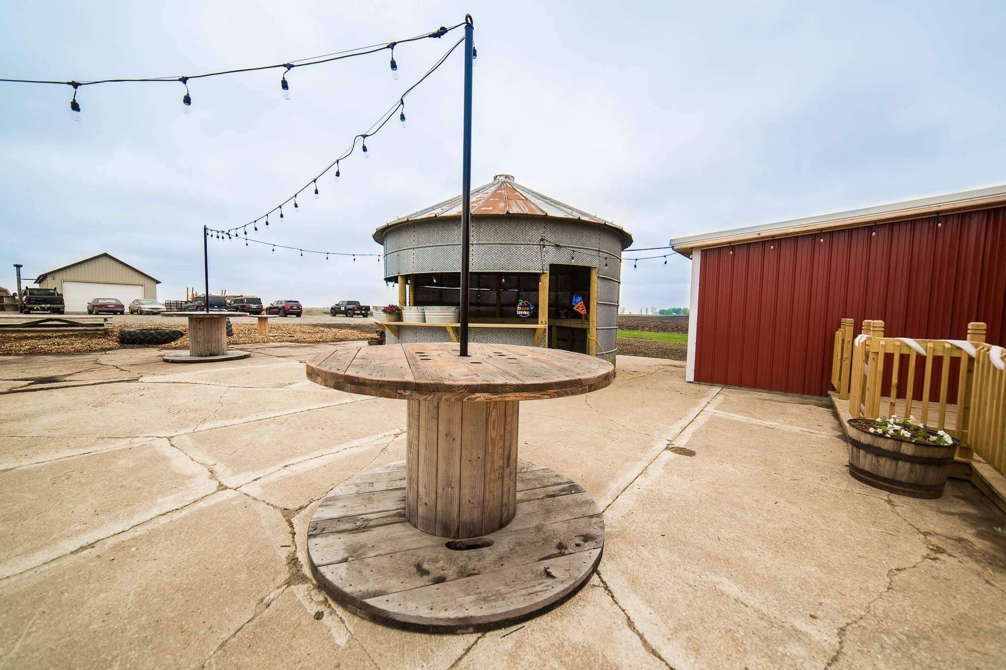Outdoor Spools - Tall bar tables!