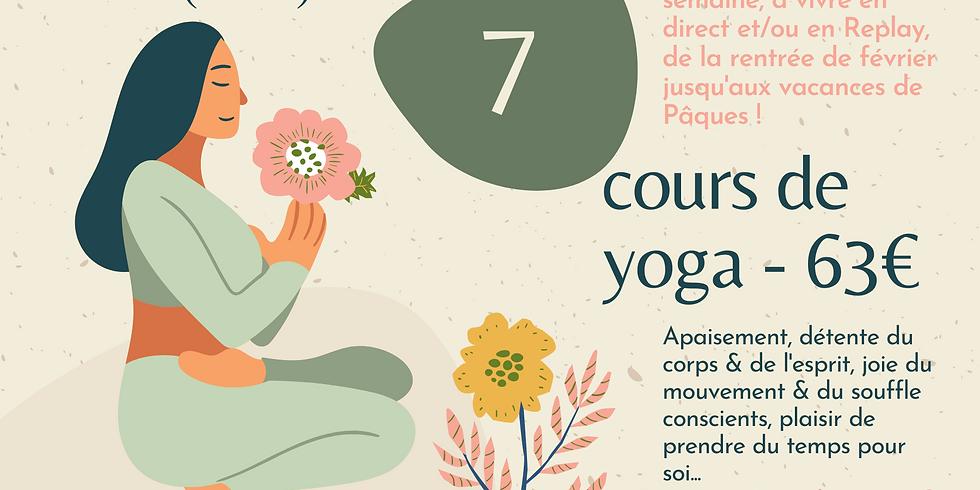 Carte de 7 cours de yoga en direct & en replay