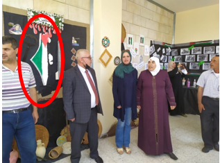 In door de EU gefinancierde Palestijnse school: raketmodel van Hamas naast kaart die Israël uitwist