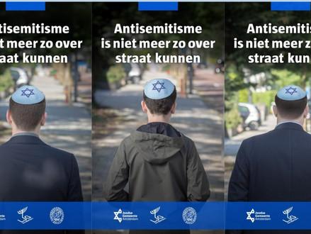 Anti antisemitisme posters zijn rode lap voor antisemieten