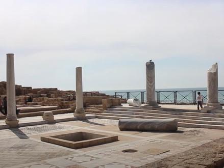 Bezoek met ons het nationale park Caesarea gebouwd door Herodes de Grote