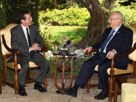 President Rivlin ontving zijn opvolger Isaac Herzog
