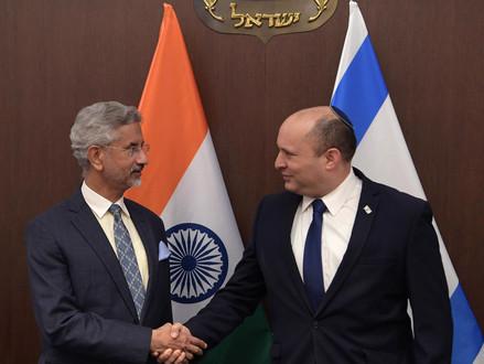 Premier Bennett ontmoet de Indiase minister van Buitenlandse Zaken Dr. Subrahmanyam Jaishankar