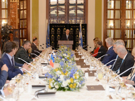 President Rivlin hield een toespraak voor de EU ambassadeurs