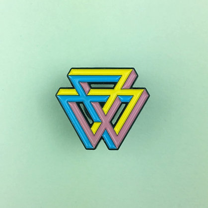 Impossible triangles soft enamel pin